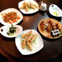 mesa de sushis