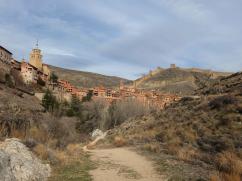 ciudad de albarracin vista