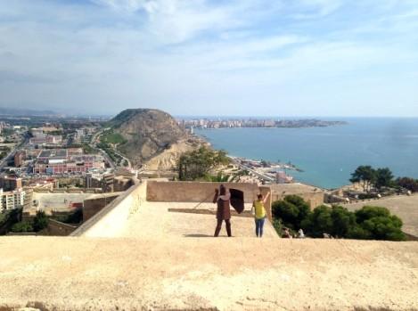 castillo alicante vistas